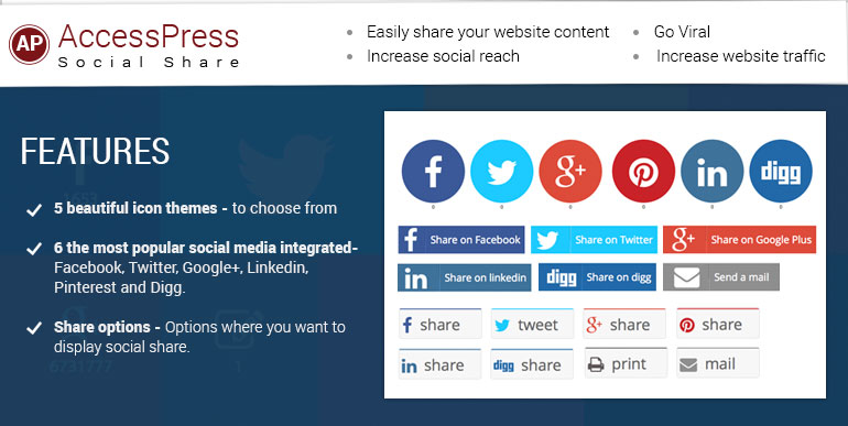 AccessPress Social Share - 20 Best Social Sharing Plugins For WordPress