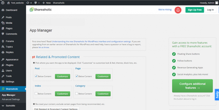 Shareaholic social share plugin - 20 Best Social Sharing Plugins For WordPress