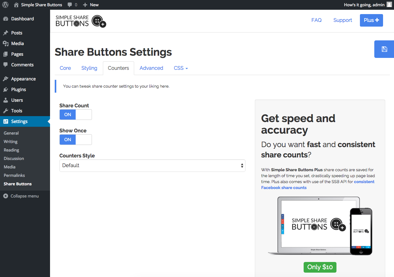 Simple Share Buttons Adder - 20 Best Social Sharing Plugins For WordPress