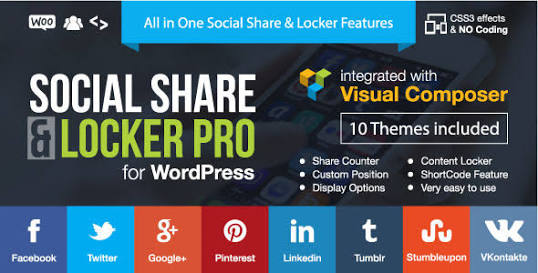 Social Share & Locker Pro - 20 Best Social Sharing Plugins For WordPress