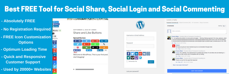 Super Socializer - 20 Best Social Sharing Plugins For WordPress