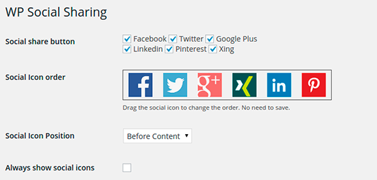 WP Social Sharing - 20 Best Social Sharing Plugins For WordPress