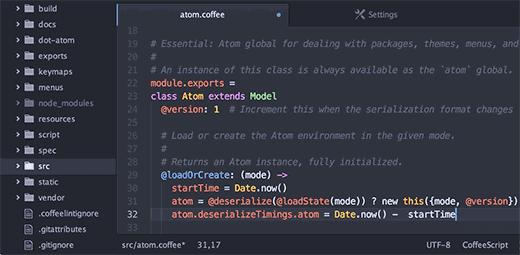 Atom - 10 best code editors for programming in 2017