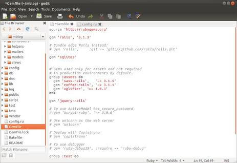 gedit - 10 best code editors for programming in 2017