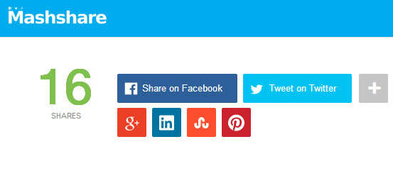 mashshare - 20 Best Social Sharing Plugins For WordPress