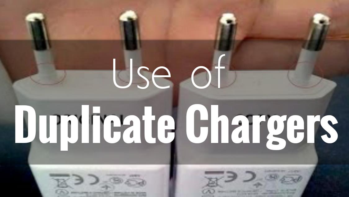 Use of Duplicate Chargers